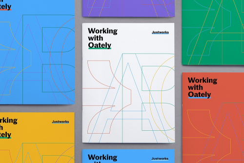 A type-led identity for payroll platform Justworks