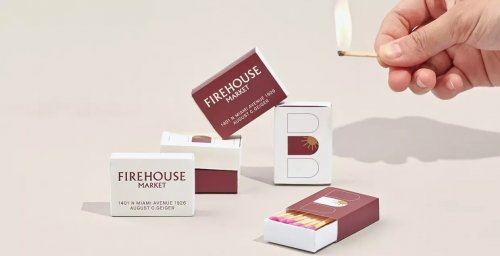 Branding and design for Firehouse, a Miami-based, contemporary fast casual food hall in a landmark Fire Station from 1926