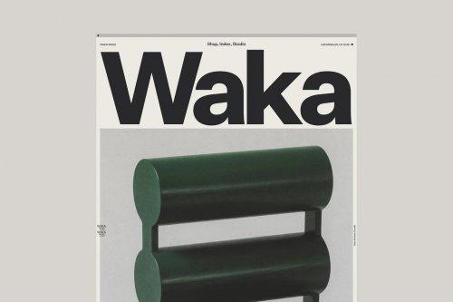 Identity and site for furniture brand Waka Waka