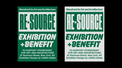 Visual identity for an exhibition and benefit at the Storefront for Art and Architecture in New York