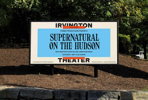 Identity for Irvington Theater by Pràctica and Andrea Trabucco–Campos