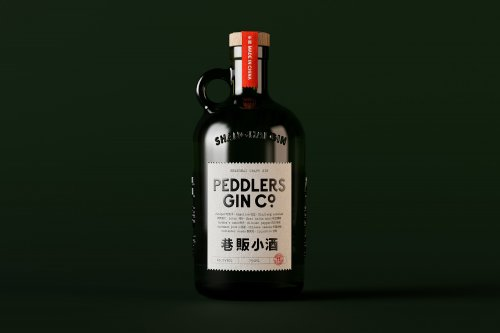 The identity for Peddlers Gin Co.