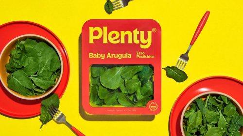 Identity for health food brand Plenty