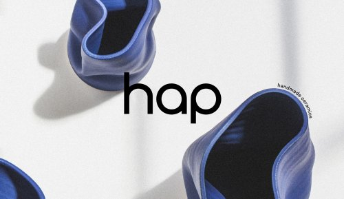 Visual identity for hap – handmade ceramics produced in Düsseldorf