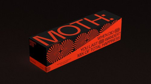 Brand identity for canned cocktail brand MOTH