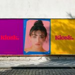 Bold identity for KIOSK, a new Danish media platform