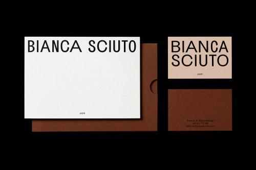 Identity for interior designer Bianca Sciuto