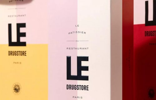 Brand identity for the iconic Restaurant Le Drugstore