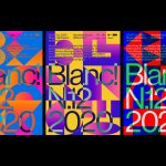 Identity for Blanc!'s 12th edition, a festival that fosters design culture with a very festive approach