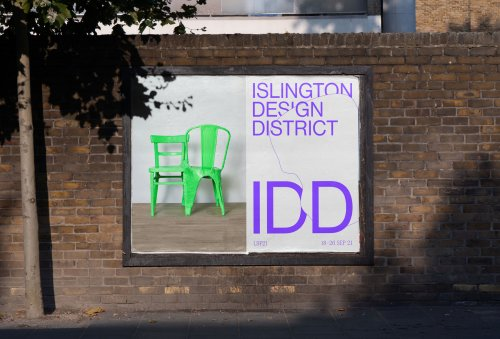 Event curation and visual identity for Islington Design District